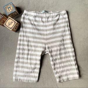 Mini Biden | Striped Stretchy Pants White 12-18mo